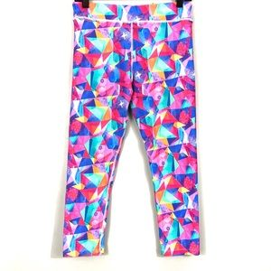 abi and joseph abstract pink capris tights